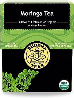 Organic Moringa Tea – 18 Bleach-Free Tea Bags – Caffeine-Free, Great Source of Vitamins, Antioxidants and Flavonoids, Chem...