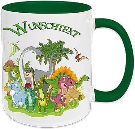 Preisvergleich für Kinder - Tasse Dino Dinosaurier + Wunschname v-01