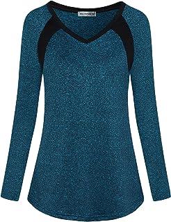 ميس فورتون اليوغا تي شيرت للنساء صغير ملابس رياضية ملابس رياضية تجريب ملابس غير رسمية داخلية في الهواء الطلق الرطوبة أعلى ...