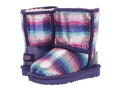 UGG Kids Classic II Sequin Rainbow (Toddler/Little Kid) (Violet Rainbow) Girl