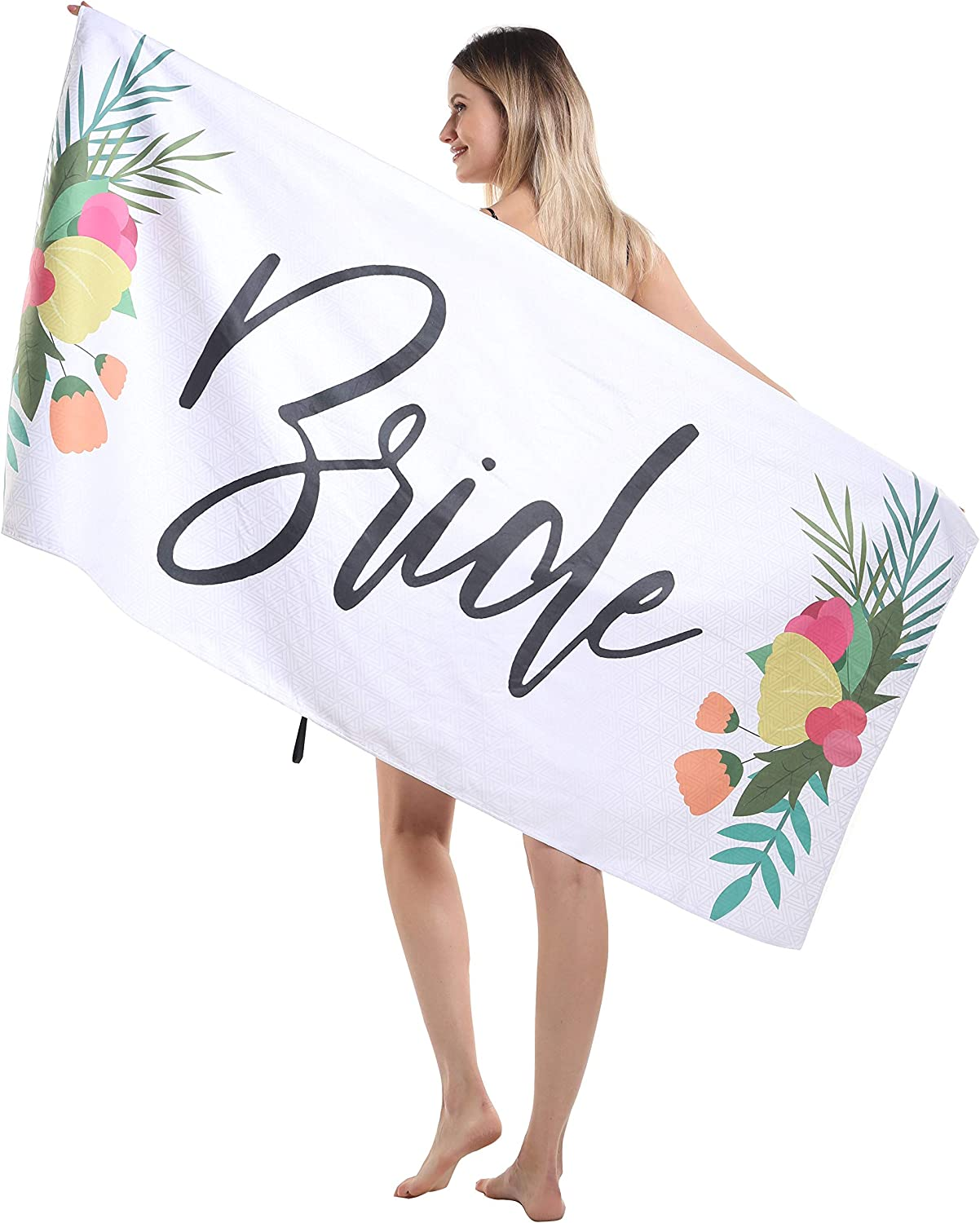 Girlfriend Best Friend Microfiber Beach Towel Mom Wife Sand Resistant Free Proof Sandless Fast Quick Dry Women Compact Cool Travel Pool Towel Ideal Gift for Teen Girls