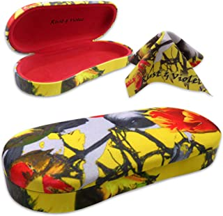 MyEyeglassCase Large Hard Shell Eyeglass Case Large Sunglasses Case W/Cloth By