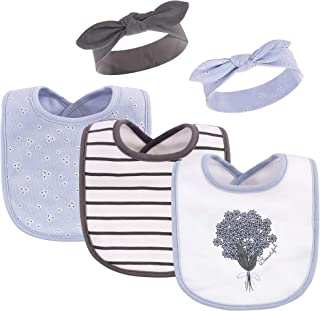 Hudson Baby Unisex Baby Cotton Bib and Headband Set