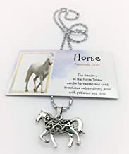 Smiling Wisdom - Horse Hollow Necklace Gift Set - Spirit Totem Animal Jewelry Totem For Children, Tweens, Teens, Girls, Friends - Favors, BFF - Christmas - Limited Edition