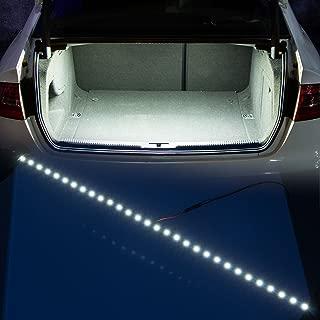 YIJINSHENG 30 SMD 5050 LED Strip Light For Car Trunk Cargo Area or Interior Illumination Decoration, Xenon White, Auto Accessories