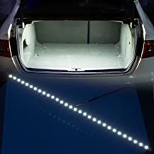 YIJINSHENG 30 SMD 5050 LED Strip Light For Car Trunk Cargo Area or Interior Illumination Decoration, Xenon White, Auto Accessories