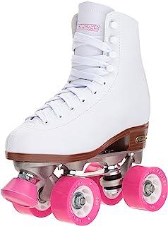 Chicago Women's Classic Roller Skates – Premium White Quad Rink Skates