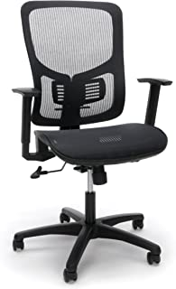 Essentials High-Back Task Chair - Mesh Back and Seat Office Chair with Adjustable Arms and Lumbar Support (ESS-3055)