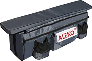 ALEKO BSB380DGV1 Seat Cushion with Under Seat Bag with Pockets for 12 or 13 Foot Inflatable Boats 38 x 9 Inches Dark Gray