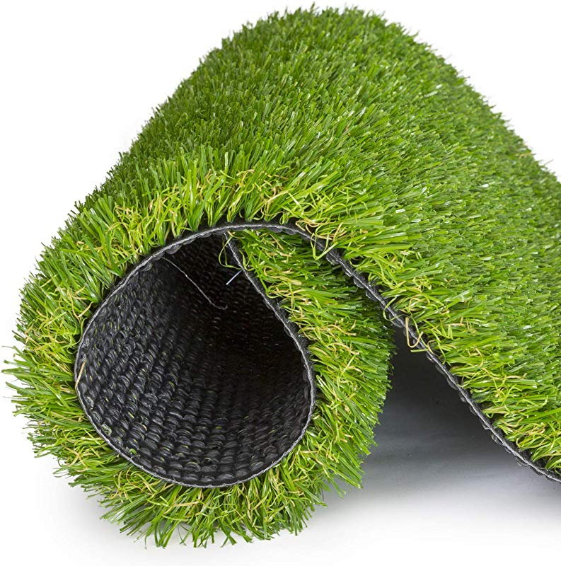SavvyGrow Artificial Grass For Dogs Astroturf Rug Premium 4 Tone Synthetic Astro Turf Easy To Clean With Drain Holes Fake Turfs For Patios Non Toxic Many Sizes 5 Ft X 13 Ft