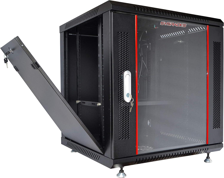 9U 24'' Deep Server Rack Cabinet Wall/Floor IT Data Network Enclosure/Free Accessories!!!