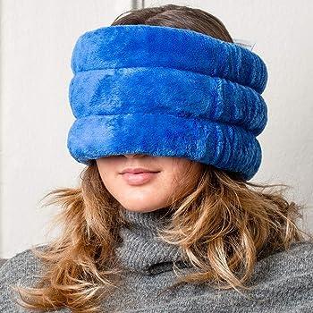 Huggaroo Rilievo di calore microwavable con lavanda d'aromaterapia | emicrania maschera, maschera per gli occhi, umido del rilievo di calore o di freddo compresso lenitivo blu taglia unica
