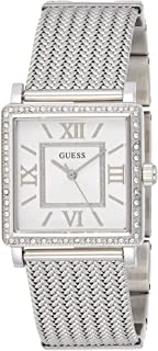 Guess Women's Silver Dial Stainless Steel Band Watch - W0826L1, Silver Band, Analog Display