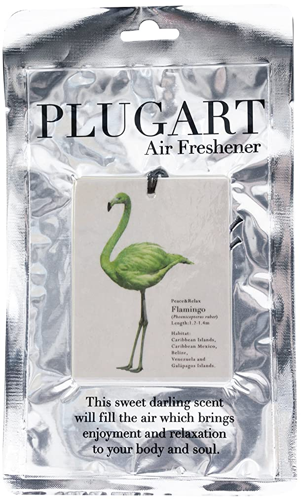 骨髄異常な伝導ノルコーポレーション エアーフレッシュナー 吊り下げ プラグアート 消臭 グリーンティーの香り PLA-1-4