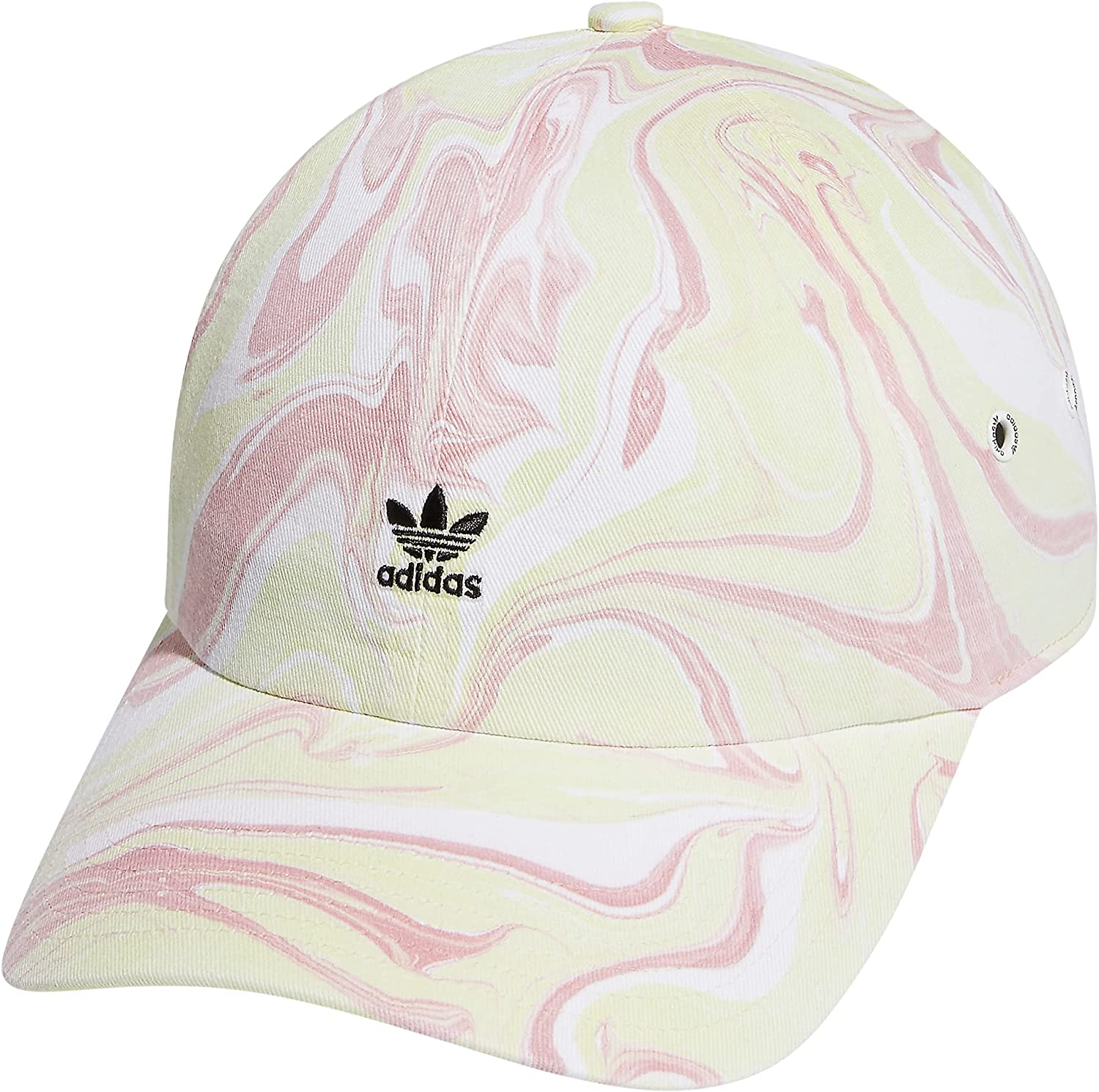 adidas Originals Women's Mini Logo Relaxed Adjustable Cap, Almost Lime Green/Wonder Mauve Pink, One Size : Clothing, Shoes & Jewelry