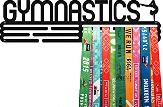 United Medals GYMNASTICS, Sport Medaille Hanger Display | Mat Zwart Staal houder medaillehanger (Max. 48 Medailles)