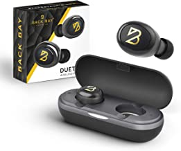 Back Bay - Duet 50 Wireless Earbuds - Bluetooth 5.0 Earphones with 40 Hours of Battery Using Charging Case. Sweatproof Truly Wireless TWS Stereo Sound Headphones with APTX. Microphone for Phone Calls