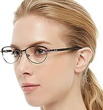 OCCI CHIARI Women Eyewear Full-Rim Metal Non Prescription Clear Optical Glasses