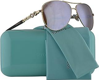 0bfd23409c Tiffany   Co. TF3049B Sunglasses Pale Gold w Dark Brown Mirror White Lens  58mm