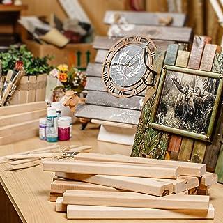 Hansales Bois Brut pour l'Artisanat - 108 Blocs Lisses en Bois Naturel - Convient pour Bricolage, Décoration, Pyrogravure,...