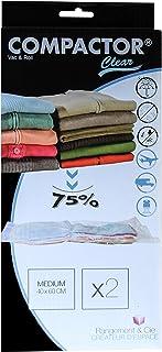 Compactor Classic Space Saver Solution de rangement sous le lit avec sac sous vide pour protéger les vêtements, oreillers,...