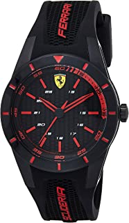 Ferrari Men's Analogue Quartz Watch with Rubber Strap