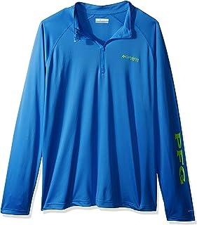 Columbia Men's PFG Terminal Tackle 1/4 Sleeve Zip Tee, Breathable, UV Sun Protection