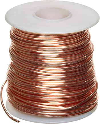 """Bare Copper Wire, Bright, 18 AWG, 0.04"""" Diameter, 195' Length (Pack of 1)"""