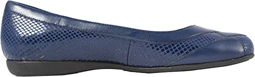 Navy Soft Leather/Embossed Snake