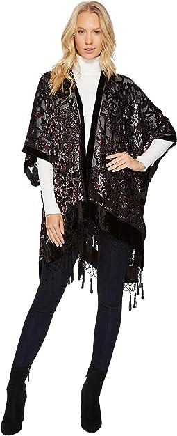 Bindya - Beaded Tassel Velvet Kimono