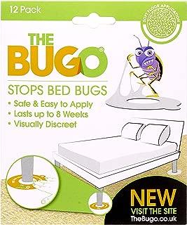The Bugo - Detector de Insectos y Trampa para Cama de Suelo Blando, 12 Unidades, Ideal para Viajes o para Uso en el hogar, pequeño