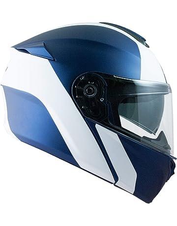 PinkDreamland Moto Giovent/ù Casco Integrale DOT Certificato Adulto Uomini e Donne Scooter Cruiser off-Road Bici modulare Flip Casco,Blu,S