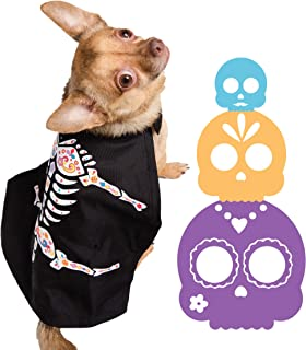 Pet Krewe PK00305L Day of The Dead Dog Cape, Large/X-Large, Multi