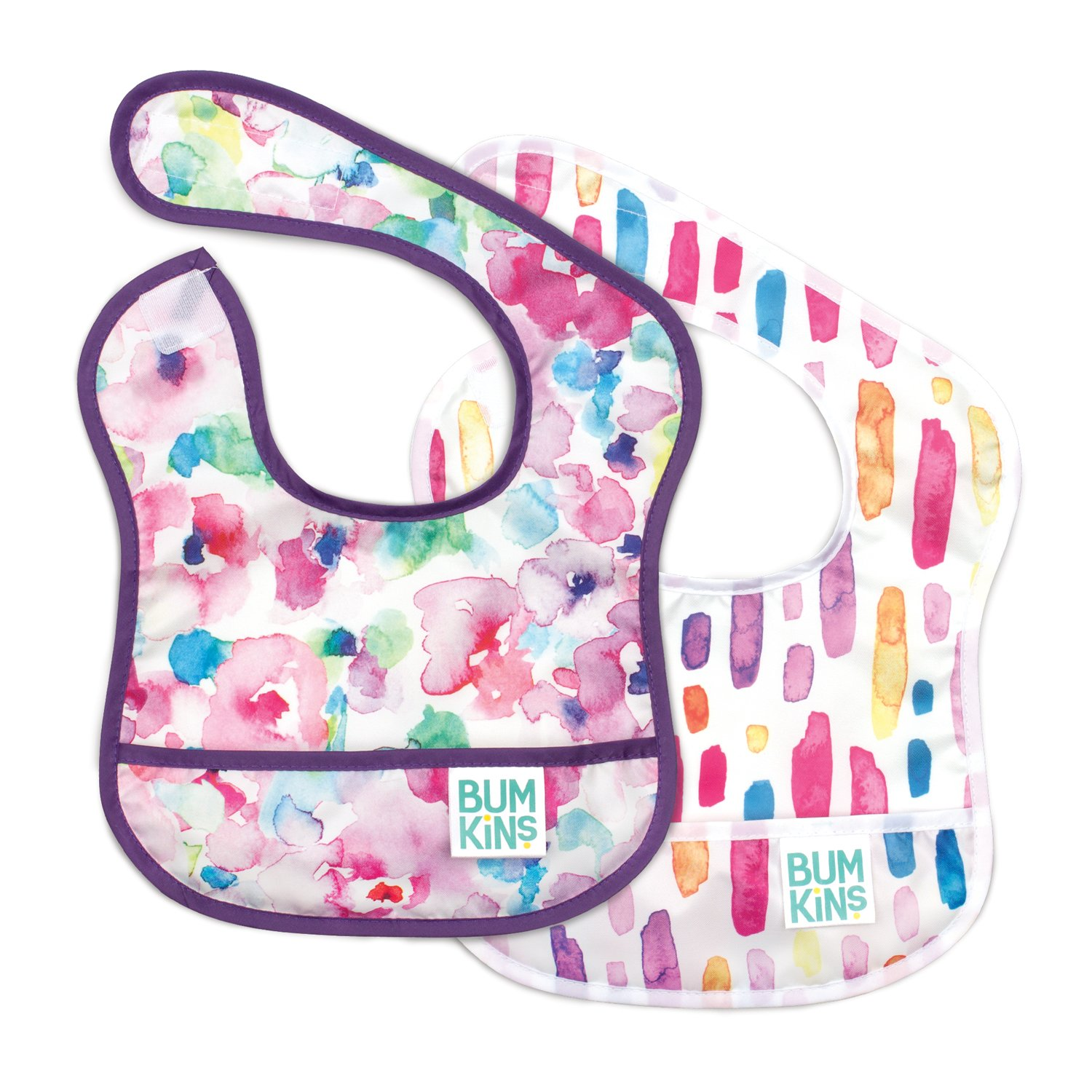 Bumkins Starter Bib 2-Pack Washable Stain and Odor Resistant Waterproof 3-9 Months Baby Bib Infant Arrows /& Feathers