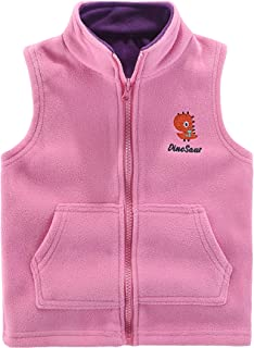 Motteecity Boys' Warm Zipper Fleece Vest