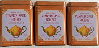Trader Joe's Pumpkin Spice Rooibos Herbal Blend Beverage - 20 Sachets (Pack of 3 for a Total of 60 Sachets)