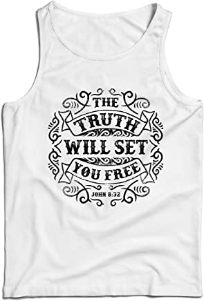 lepni.me Men's Tank Top The Truth Will Set You Free - The Proof of Faith -