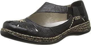 Women's Lace-Up Flats, Black, 6.5