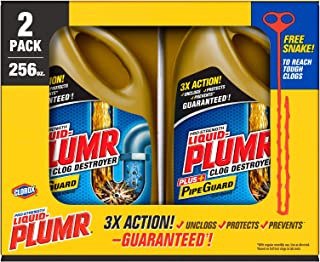 An Item of Liquid-Plumr Pro-Strength Full Clog Destroyer Plus PipeGuard (128 oz. bottles, 2 pk.) - Pack of 1