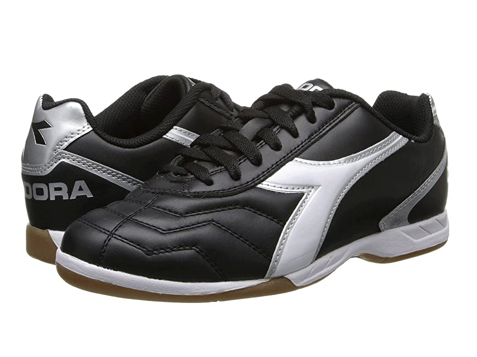 Diadora Capitano LT ID (Black/White/Silver) Men's Shoes