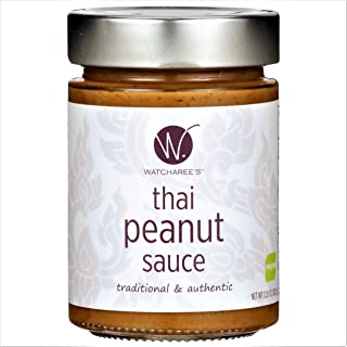 Watcharee's Thai Peanut Sauce | Authentic Traditional Thai Recipe | (Vegan) 11.75 Oz Jar