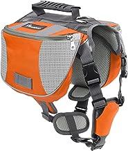 PAWABOO Dog Backpack, Pet Adjustable Saddle Bag Harness Carrier for Traveling Hiking Camping, Suitable for 39 lb - 60 lb Pets.
