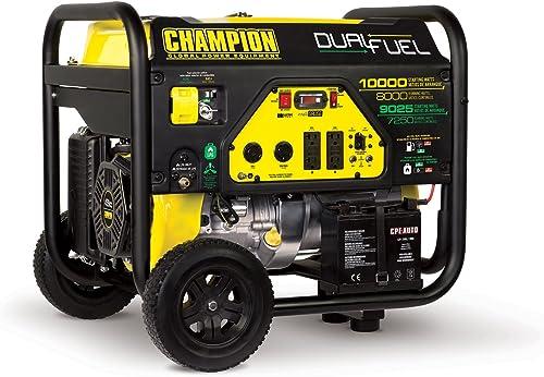 popular Champion 8000-Watt Dual Fuel online Portable Generator sale with Electric Start sale