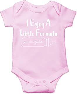I Enjoy A Little Formula - Math Nerd - Funny Cute Infant Creeper, One-Piece Baby Bodysuit