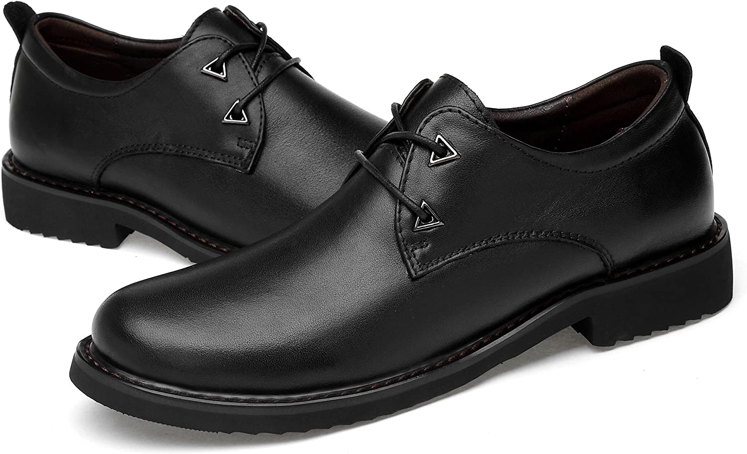 KEEPwhiteE Men' s Genuine Leather British Business Dressing shoes Oxfords