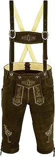 Men's Bavarian Trachten Lederhosen Leather Shorts