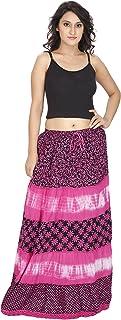 FRANCLO Women Tie Dye Cotton Skirt