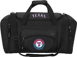 MLB Texas Rangers Roadblock Duffel Roadblock Duffel, Black, 20L x 11.5 x 13