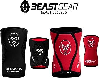 Beast Gear Rodilleras Deportivas Beast - Rodilleras Neopreno 5mm con Función Protectora y de Compresión - Ideal para Halte...