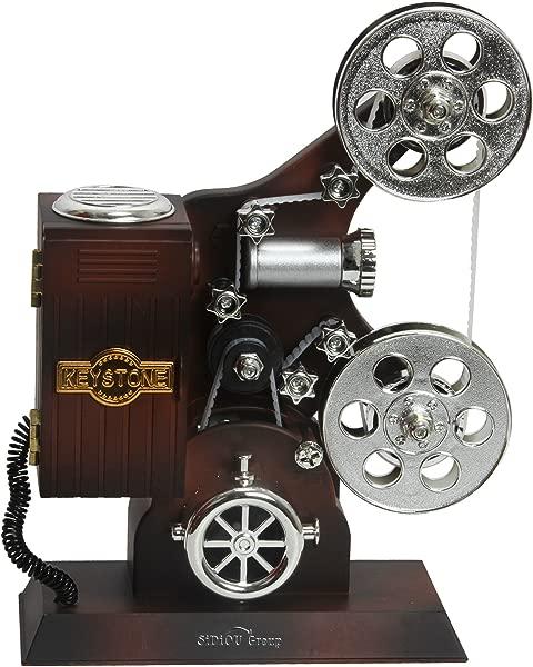 Sidiou Group Creative Classical Movie Film Projector Model Music Box Mechanical Lovely Music Box Romantic Music Box Retro Music Box